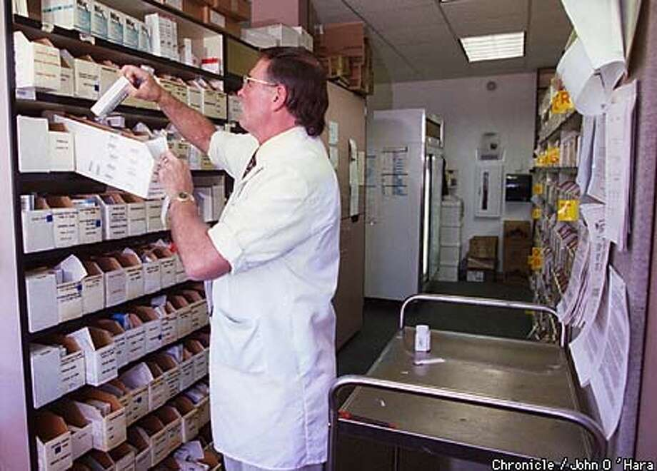 For Phil Grauss, a Kaiser pharmacist in Petaluma, the labor-management alliance made contract negotiations relatively amicable. Chronicle Photo by John O'Hara