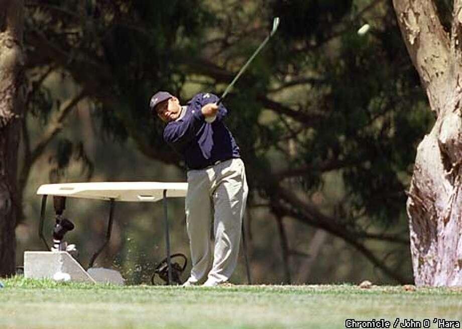 """San Francisco, Ca. """"Harding Park""""  S.F. Open. On the 11th hole , Gary Trevino makes his second shot to the green.  Photo by.........John O'Hara Photo: John O'Hara"""
