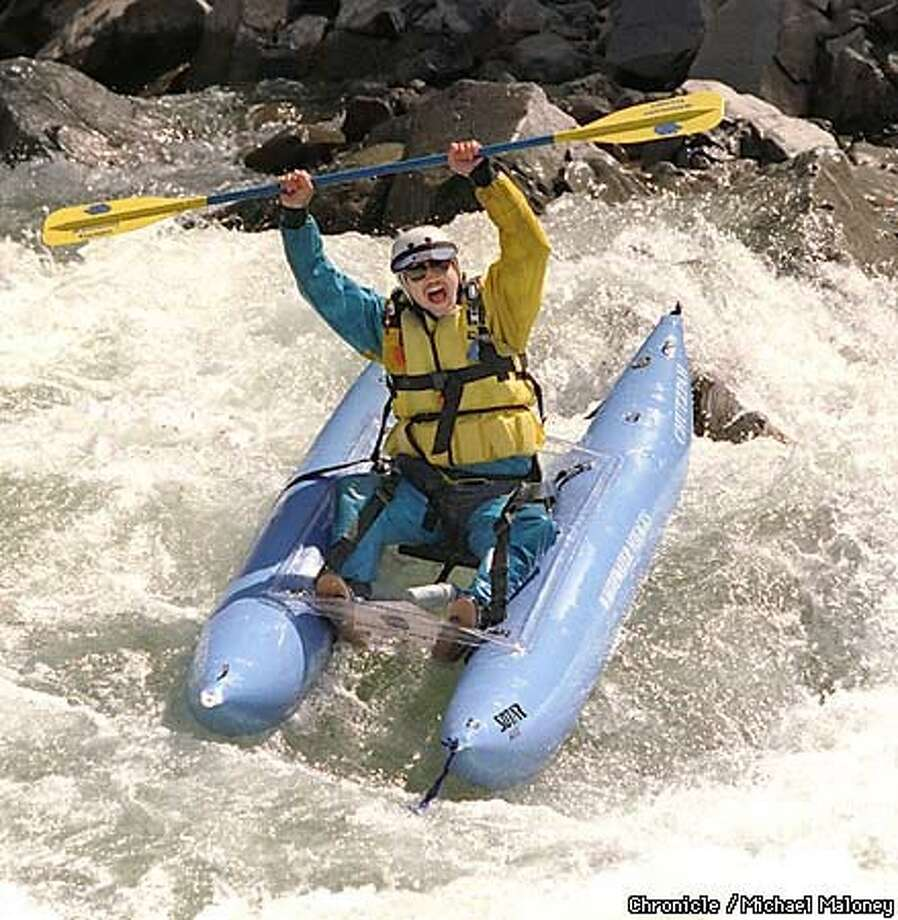 About 5.5 million people use the American River for recreational purposes, such as whitewater rafting. Chronicle Photo by Michael Maloney