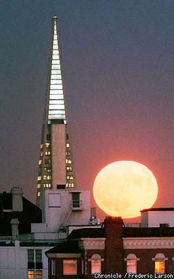The Transamerica Pyramid. Chronicle Photo by Frederic Larson