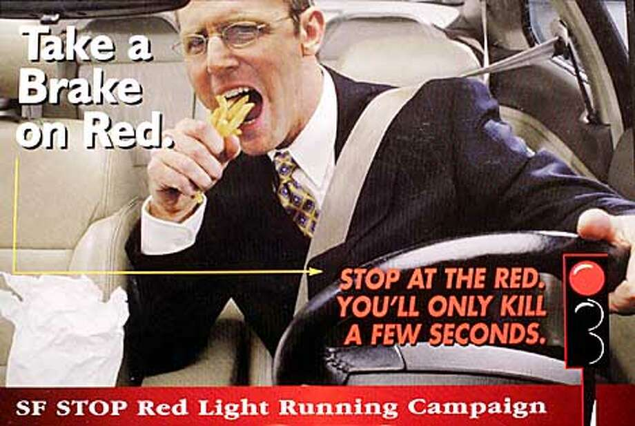 REDLIGHTS3-C-10APR01-SZ-HO  Handout as part of a gcampaign to bring attention to the safety concerns of people eating and other distractions while they drive. Photo: DEANNE FITZMAURICE