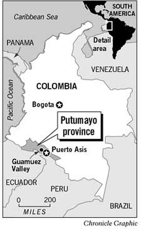Putumayo Province. Chronicle Graphic