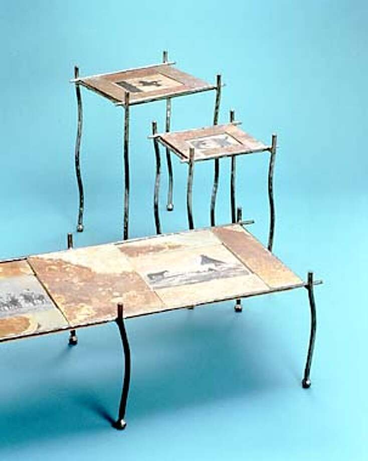 Slate tables by Shlomo Shuval. Courtesy photo