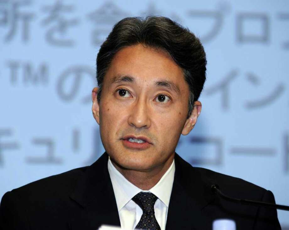 (FILES) In this file picture taken on May 1, 2011 chairman of Sony Computer Entertainment and executive vice president of Sony, Kazuo Hirai, speaks at a press conference in Tokyo. Howard Stringer, the Welsh-born US head of Japanese games, music and electronics giant Sony, is to step down as the firm's president and CEO, the company said on February 1, 2012. Stringer will be succeeded by Kazuo Hirai, a games and music veteran, who will take over as president and CEO in April, a company statement said, while Stringer will become chairman of the board of directors in June.       AFP PHOTO / FILES / Toru YAMANAKA (Photo credit should read TORU YAMANAKA/AFP/Getty Images) Photo: TORU YAMANAKA / AFP