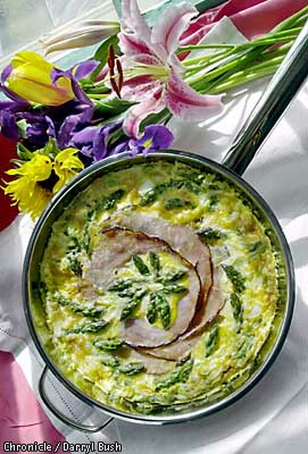 Artichoke and ham fritatta. Chronicle Photo by Darryl Bush Food Styling by Damon Barham Photo: DARRYL BUSH