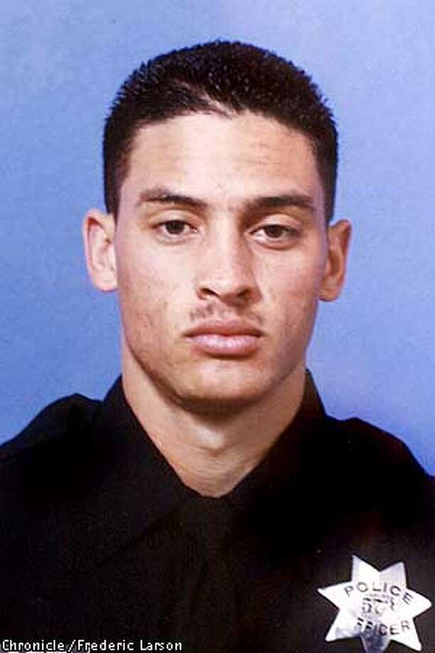 COP SHOT-12JAN00-MN-FRL: William Wilkins, a seven-year Oakland Police veteran, was shot and kill last night in Oakland by another Oakland officer. Chronicle photo by Frederic Larson ALSO RAN: 01/16/2001 Photo: FREDERIC LARSON
