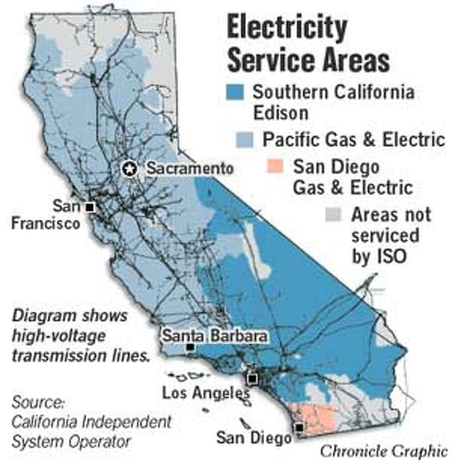 Electricity Service Areas. Chronicle Graphic