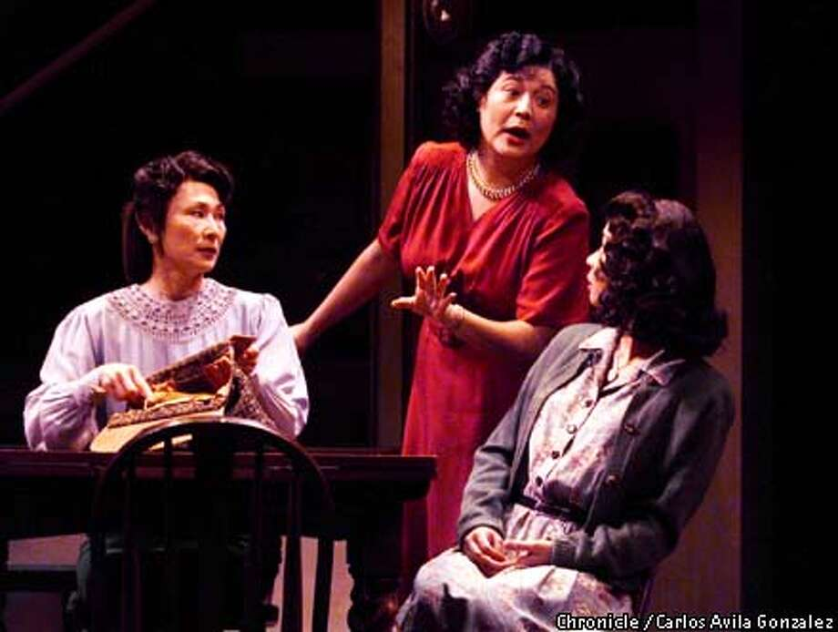 "(L-R) Kim Miyori, Lisa Li, and Sala Iwamatsu, as Grace, Chiz and Rose, in the San Jose Repertory Theater's production of, ""The Sisters Matsumoto.""  (CARLOS AVILA GONZALEZ/SAN FRANCISCO CHRONICLE) Photo: CARLOS AVILA GONZALEZ"