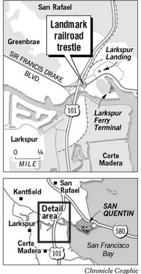 Landmark Railroad Trestle. Chronicle Graphic