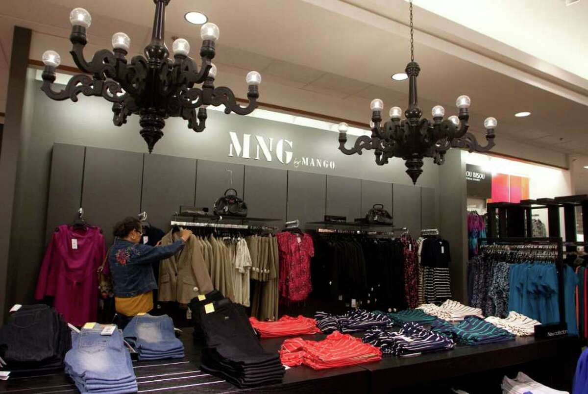 The MNG by Mango section of J.C. Penney is part of the chain's store-within-a-store concept, an idea that's going to grow under new CEO Ron Johnson.