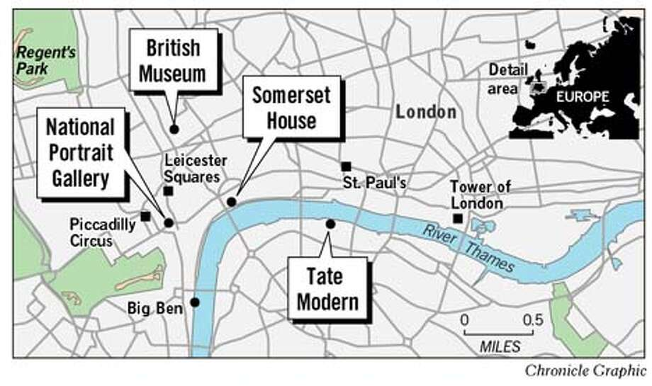 London Map. Chronicle Graphic