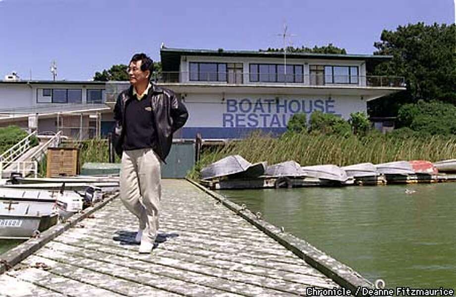 Lake Merced's water level has fallen so much that the operator of the fishing and boat venture is calling it quits. Lake Merced Boathouse Bar & Grill owner, Chor Lee will be taking over the fishing and boat operation there. CHRONICLE PHOTO BY DEANNE FITZMAURICE Photo: DEANNE FITZMARUICE