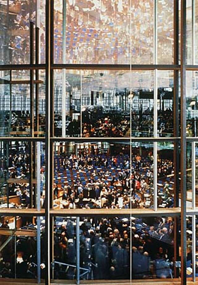 """Andreas Gursky's """"Bundestag'' (1998) is part of the photographer's retrospective at New York's Museum of Modern Art. Handout Photo"""