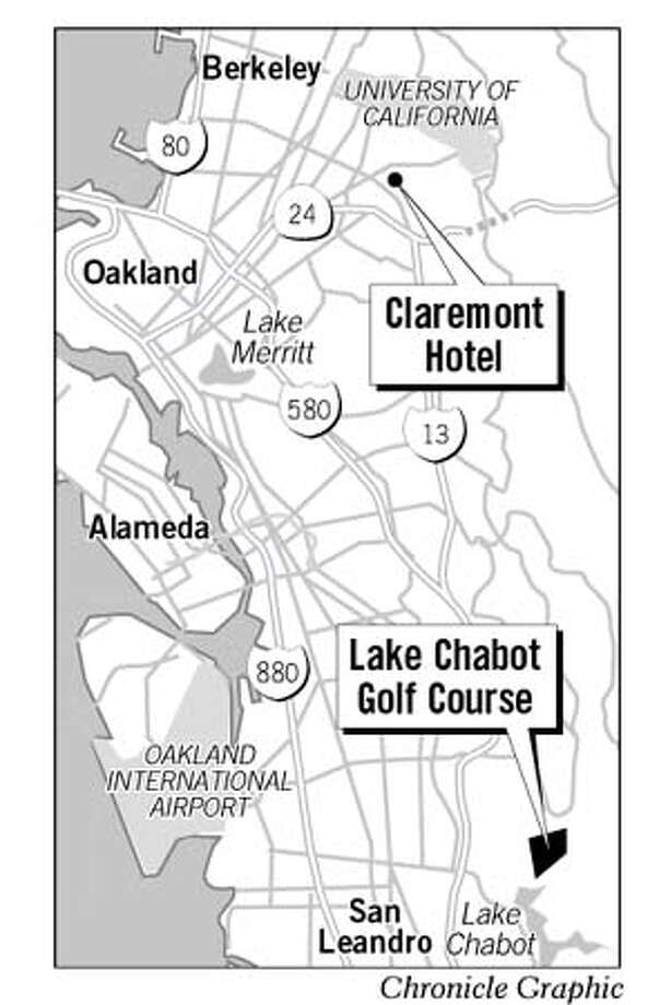 Claremont Hotel / Lake Chabot Golf Course Map. Chronicle Graphic