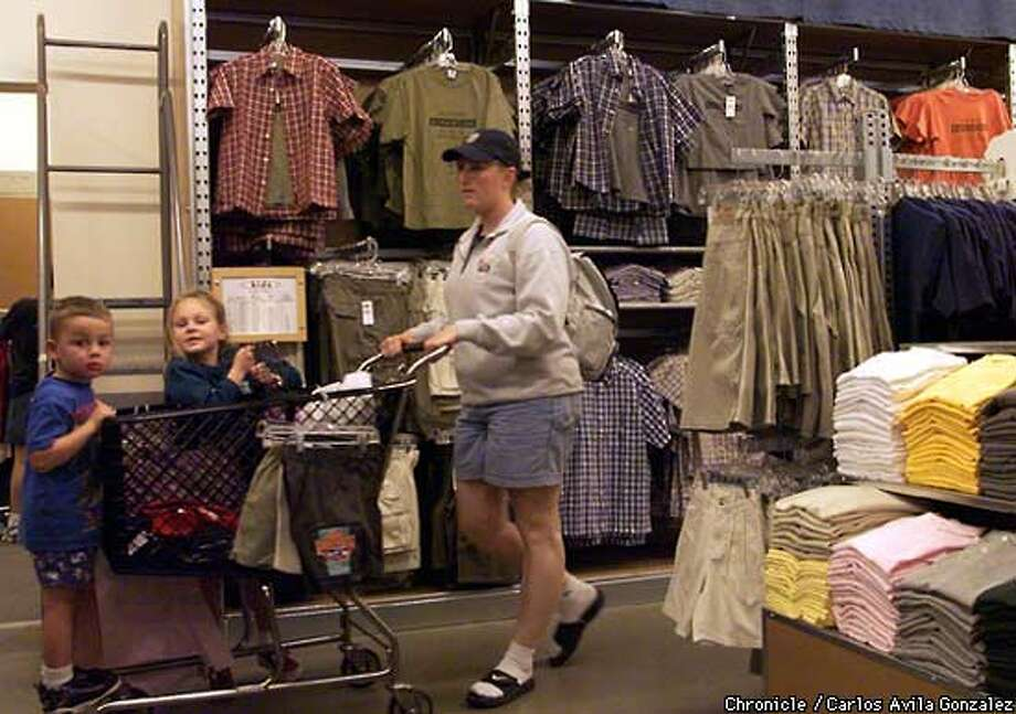 Stephanie Stepanenko took Aidan Goyette, 4, and Emma Goyette, 6, for a shopping trip to the Old Navy steon in Bridgepointe Shopping Center.