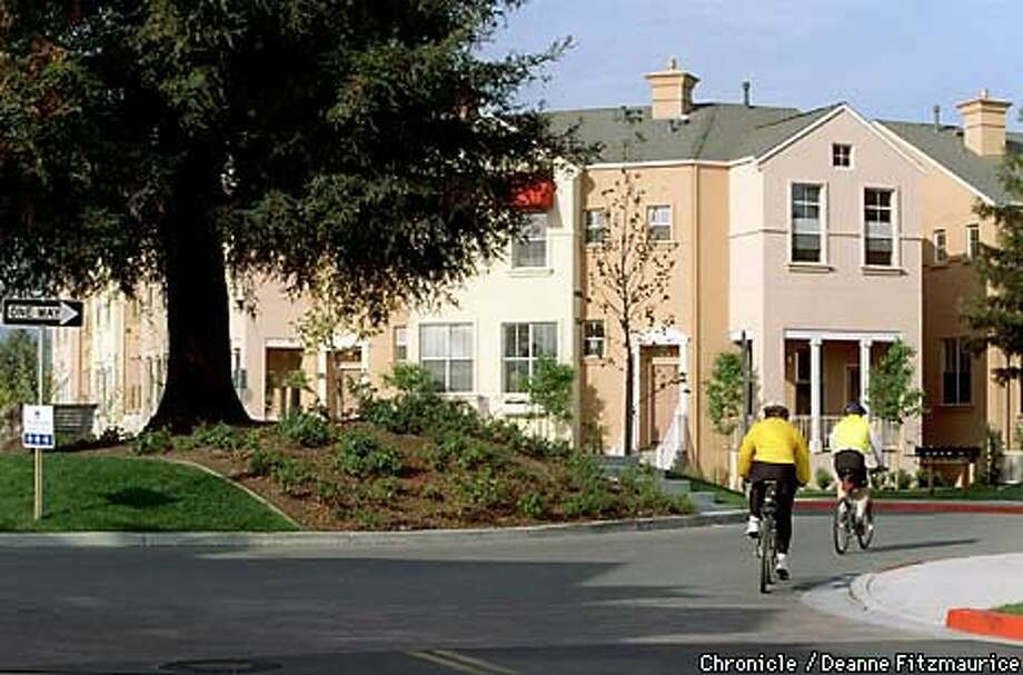 The Crossings in Mountain View is a 17-acre planned neighborhood built near a Caltrain station. Chronicle Photo by Deanne Fitzmaurice