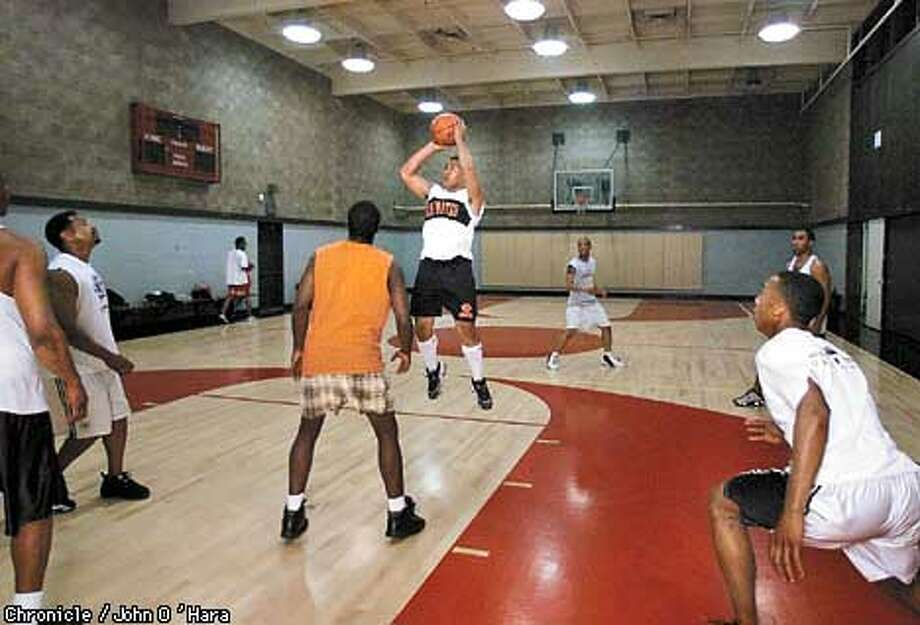 The Martin Luther King Jr. Center, 725 Monte diablo, San mateo.  Twilight Basket ball, a spinoff from Midnight basketball, the idea get teeens off the street. The program is now in danger from competition from Federal block grants Photo: John O'Hara