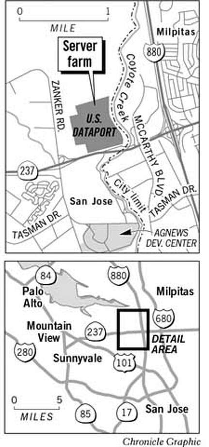 "San Jose's ""Internet Server Farm."" Chronicle Graphic"