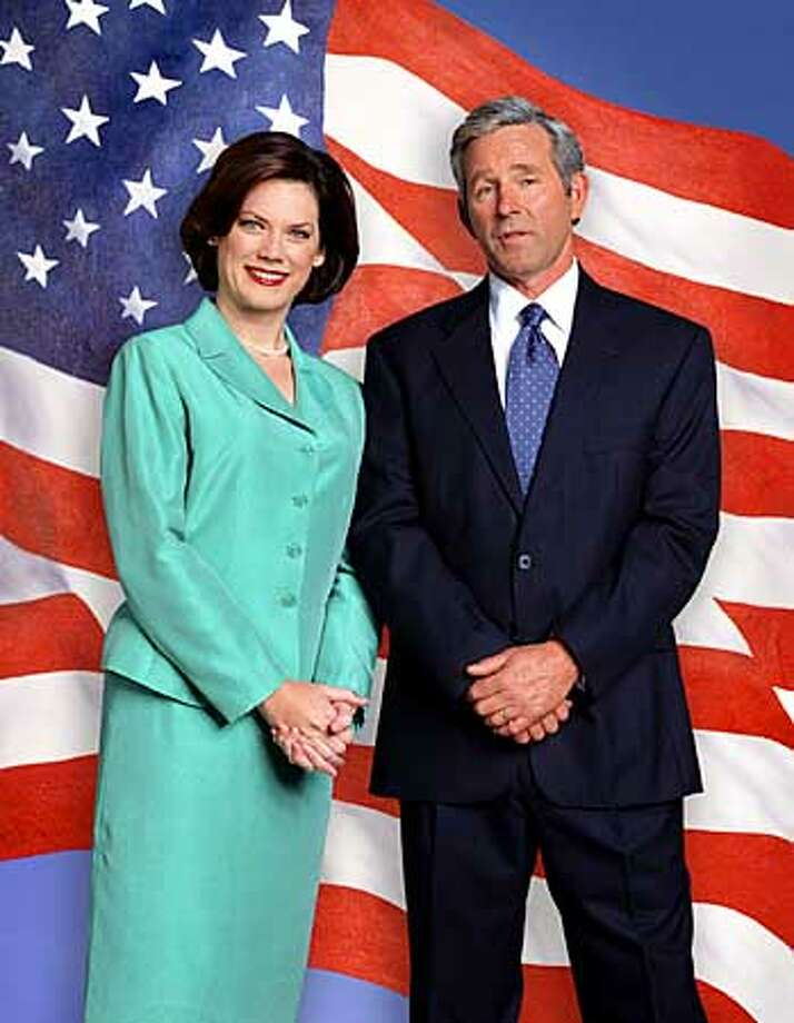 Carrie Quinn Dolan as Laura Bush and Timothy Bottoms as George W. Bush: sitcom vision of the first couple. Comedy Central photo by Mark Fellman via Associated Press
