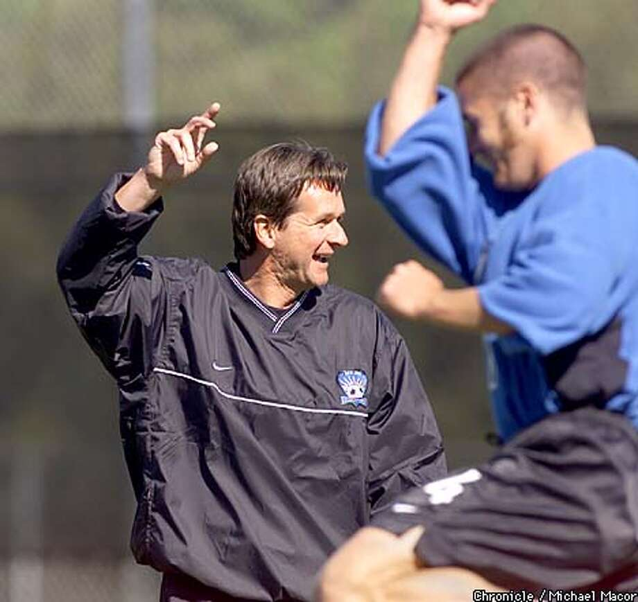 Coach Frank Yallop is among the many new faces for the Earthquakes, who open the MLS season Saturday. Chronicle photo by Michael Macor