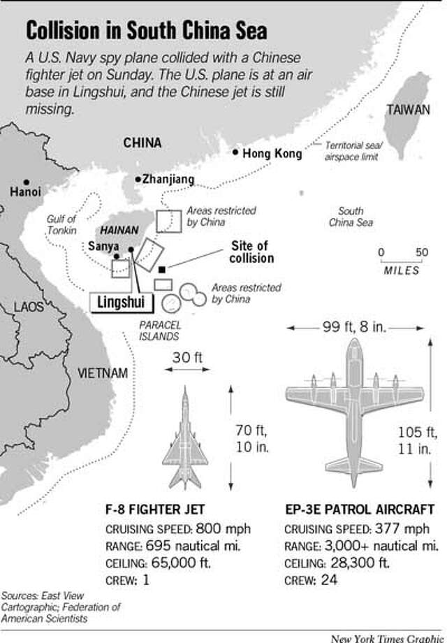 Collision in South China Sea. New York Times Graphic