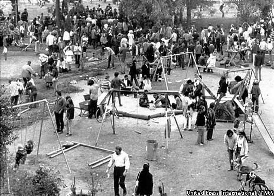"Thirty years ago, University of California at Berkeley activists took over a plot of land marked for student housing and built a ""park for the  people."" Photo by United Press International"