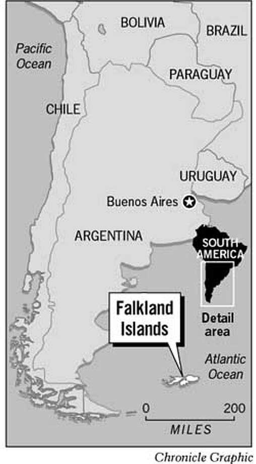 Falkland Islands. Chronicle Graphic