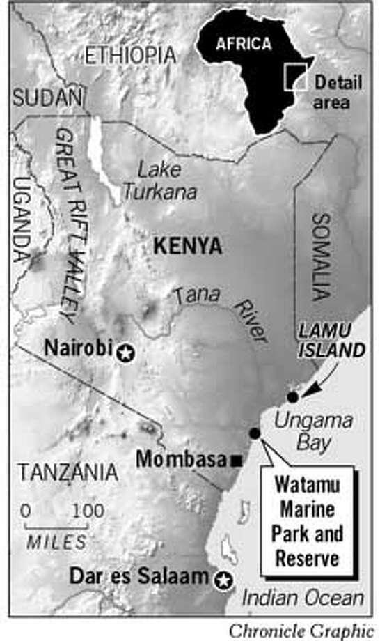 Watamu Marine Park and Reserve. Chronicle Graphic