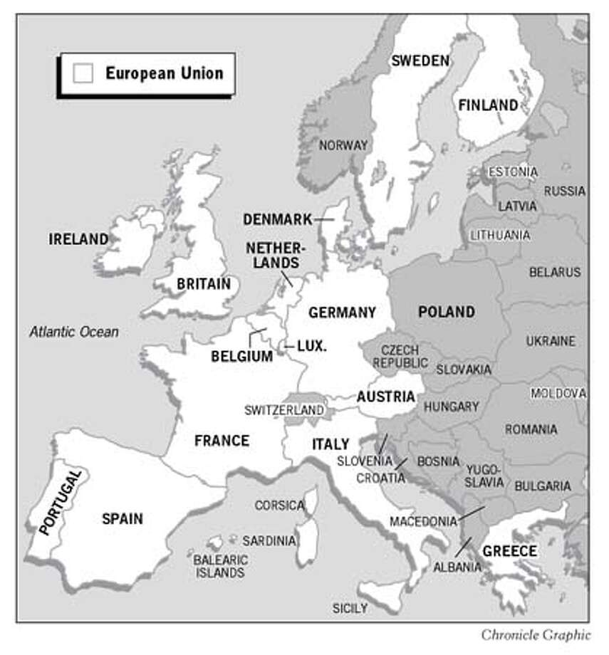 European Union Map. Chronicle Graphic