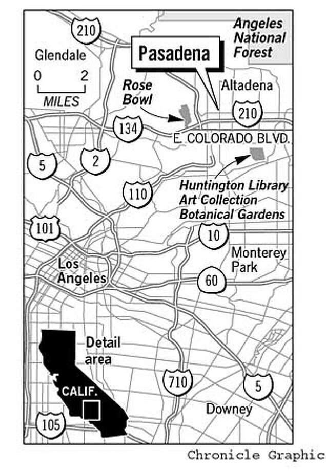Pasadena Map. Chronicle Graphic