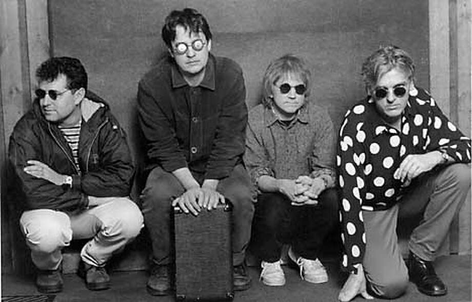 Because Robyn Hitchcock still has an active solo career, he's distinguishing that from this Soft Boys reunion by not using any solo shots to promote the Soft Boys. Enclosed is a current Soft Boys shot with Robyn at the far right.