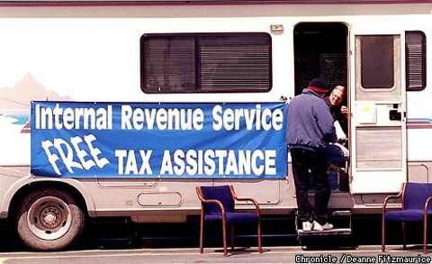 IRS Hits the Road / Friendlier tax agency offers last-minute