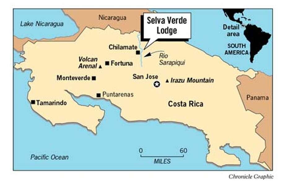 Costa Rica Map. Chronicle Graphic