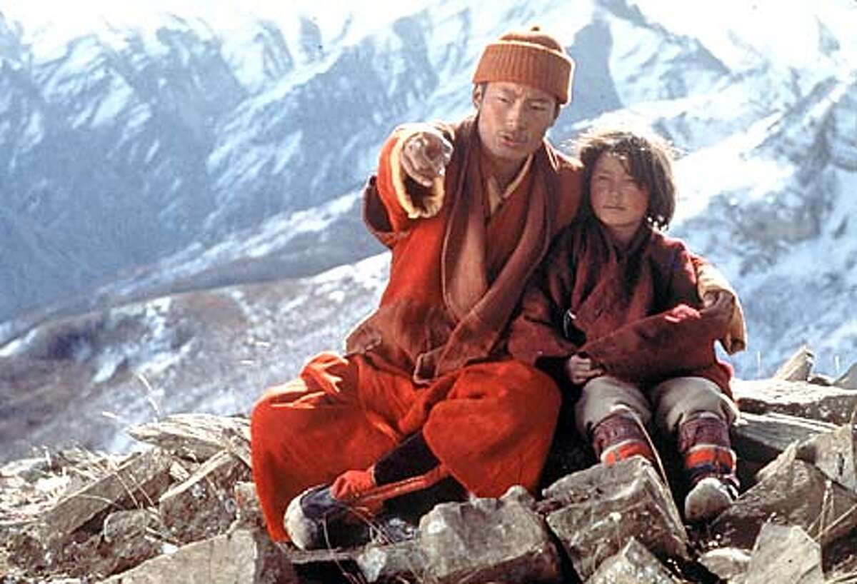 "Karma Wangiel, right, and Karma Tensing Nyina in ""Himalaya."" Handout Photo"