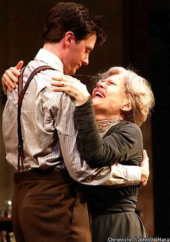 Jason Butler Harner is Edmund Tyrone and Pamela Payton-Wright is his mother, Mary, in Eugene O'Neill's ``Long Day's Journey Into Night.'' Chronicle Photo by John O'Hara