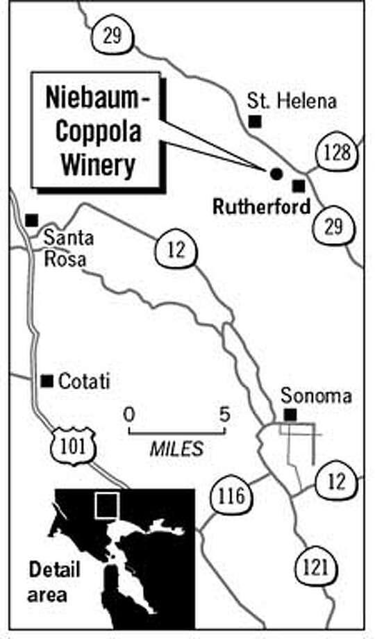 Niebum Coppola Winery. Chronicle Graphic