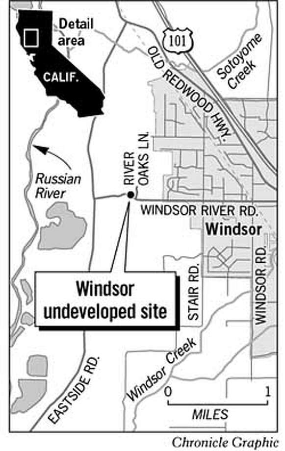 Windsor Undeveloped Site. Chronicle Graphic Photo: Cen Aguirre