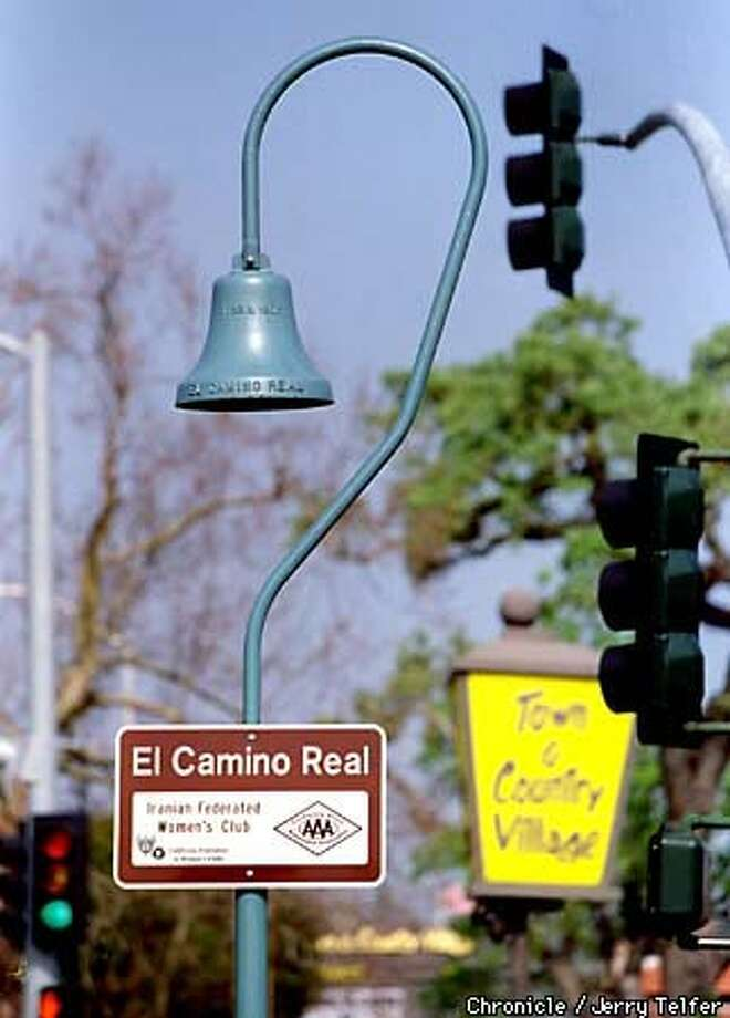 One of the new mission bells marking El Camino Real, California's mission trail that runs from Sonoma to the Mexican border. Chronicle Photo by Jerry Telfer