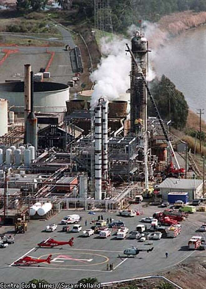 A federal review concluded that better management could have prevented the fire that killed four workers at the Tosco Refinery in Martinez. Contra Costa Times file photo by Susan Pollard via Associated Press