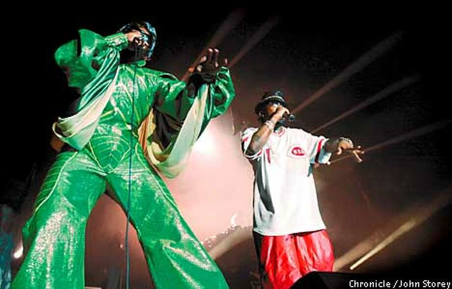 """The band """"Outkast"""" at the Event Center at San Jose State. Photo byJohn Storey. Photo: John Storey"""