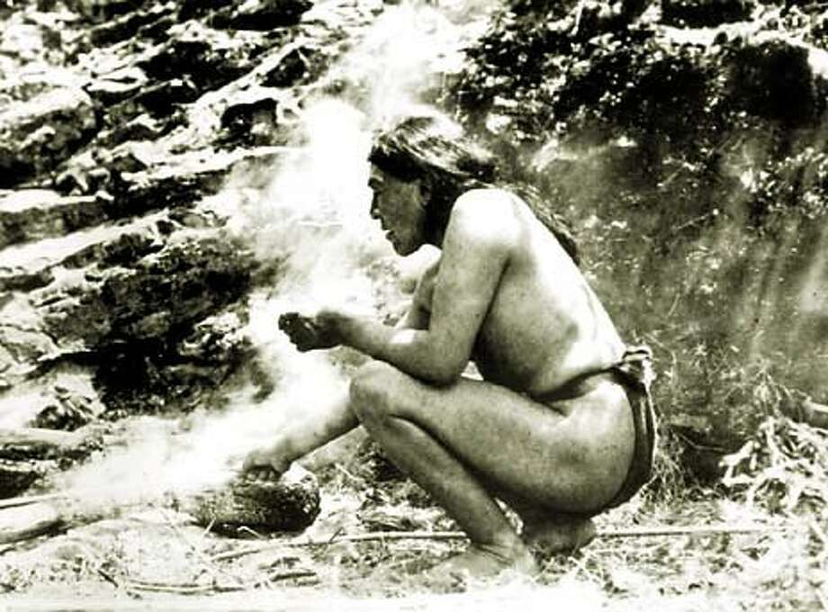 """Photo of Ishi from the documentary film """"The Last Yahi,"""" by Jed Riffe and Pam Roberts."""