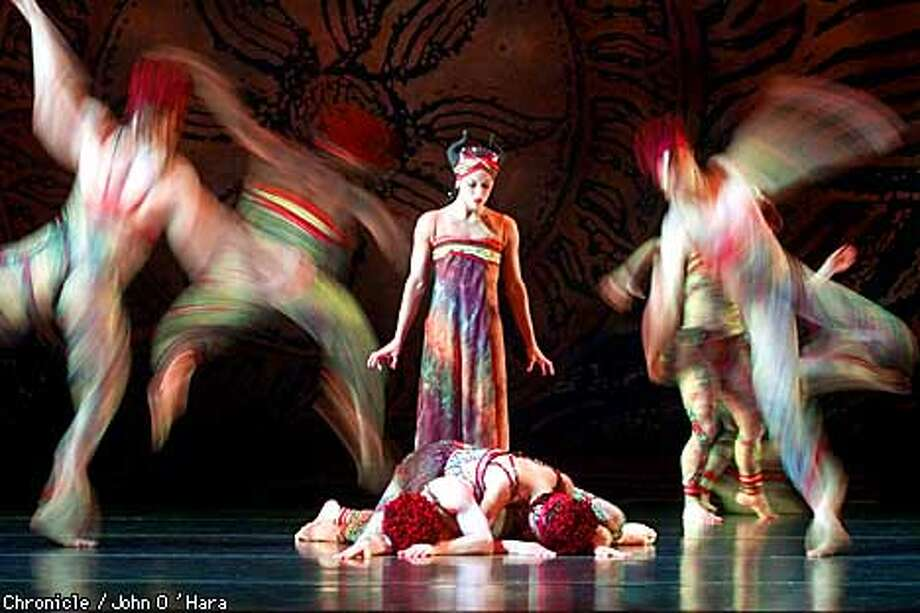 "Yerba Buena Gardens, San francisco, CA.  Paul Taylor dance Company, Program C. ""Fiends Angelical""  Dancer"" Silvia Nevjinsky"",  photo/John O'Hara Photo: JOHN O'HARA"
