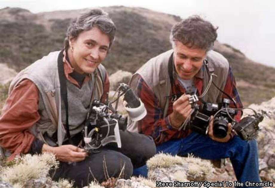 Sylvia and Steve Sharnoff in a file photo taken in December of 1997 in the Marin Headlands. They were on a lichen photo shoot Photo by Steve Sharnoff Photo: DAVID SHARNOFF