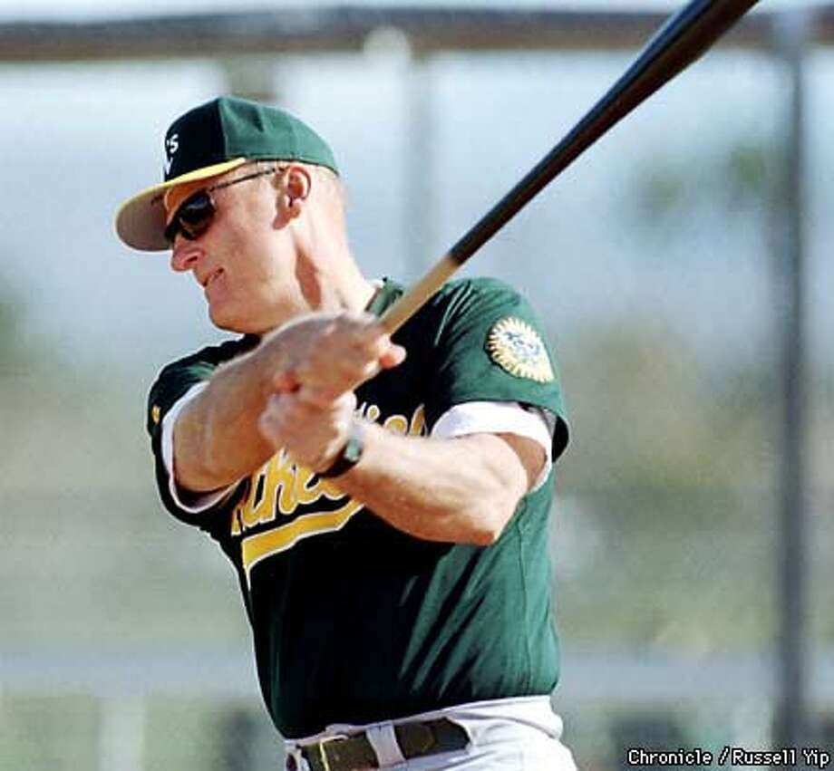 Art Howe's good relationship with his players helped in the A's  decision to retain him as manager. Chronicle Photo by Russell Yip