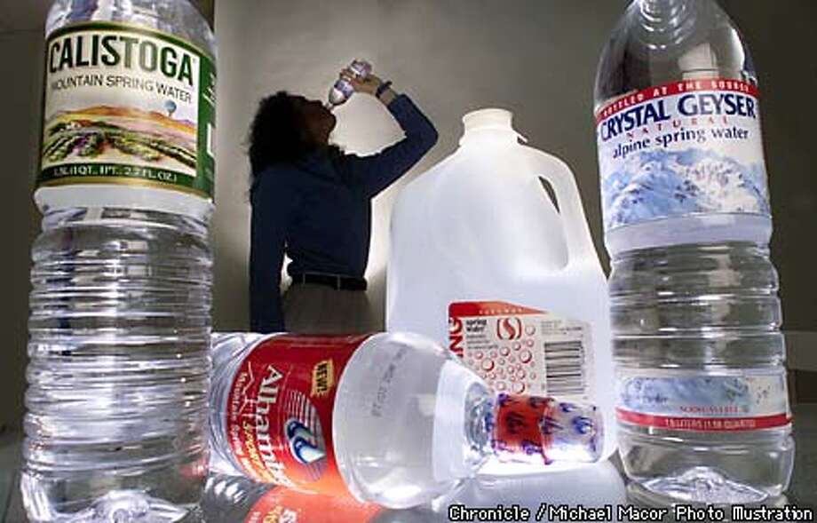 """A study by the """"Natural Resource Defence Council"""" has found that bottled water is no safer that tap water. ******** PHOTO ILLUSTRATION / Michael Macor/The Chronicle Photo: MICHAEL MACOR"""