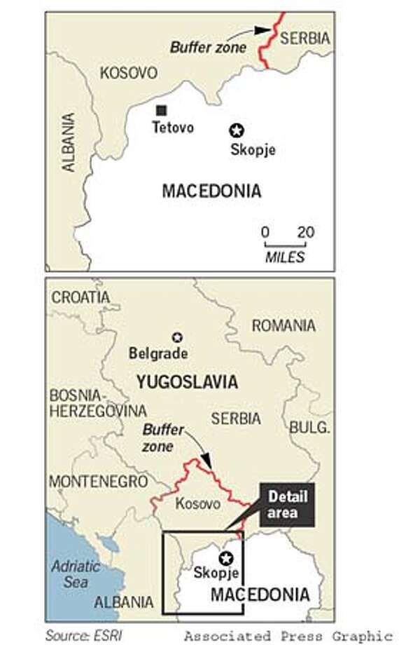 Balkans. Associated Press Graphic