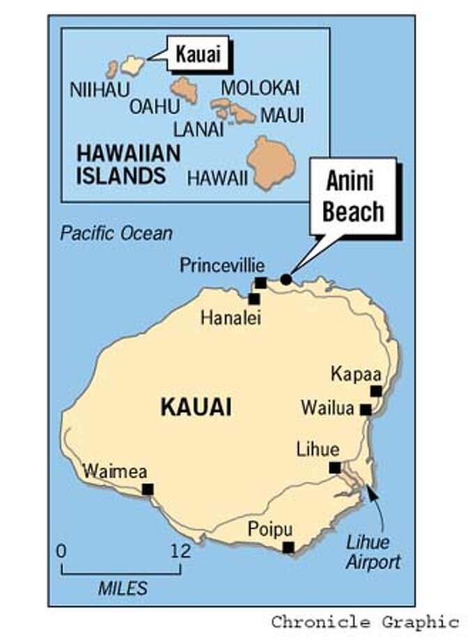 Kauai Map. Chronicle Graphic