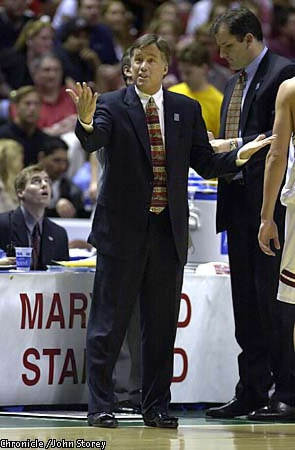 Stanford coach Mike Montgomery. Chronicle photo by John Storey