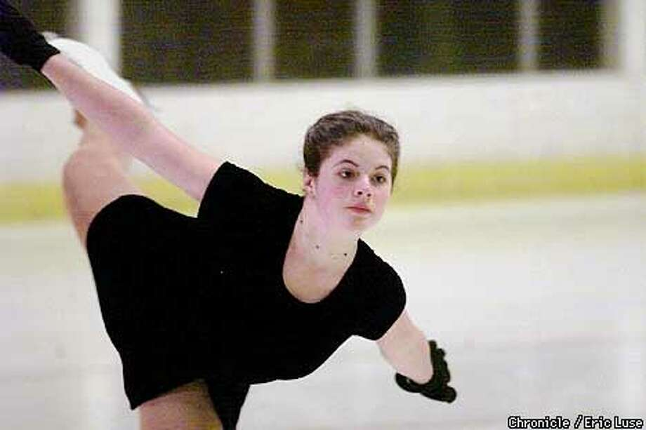 Stephanie Ewing, 17, practicing a front spiral at the Redwood Ice Arena, Santa Rosa is one of the North Bay's top young ice skaters. They're expected to fare well in a showcase competition to be held at the Redwood Empire Ice Arena on March 23-25. BY ERIC LUSE/THE CHRONICLE Photo: ERIC LUSE