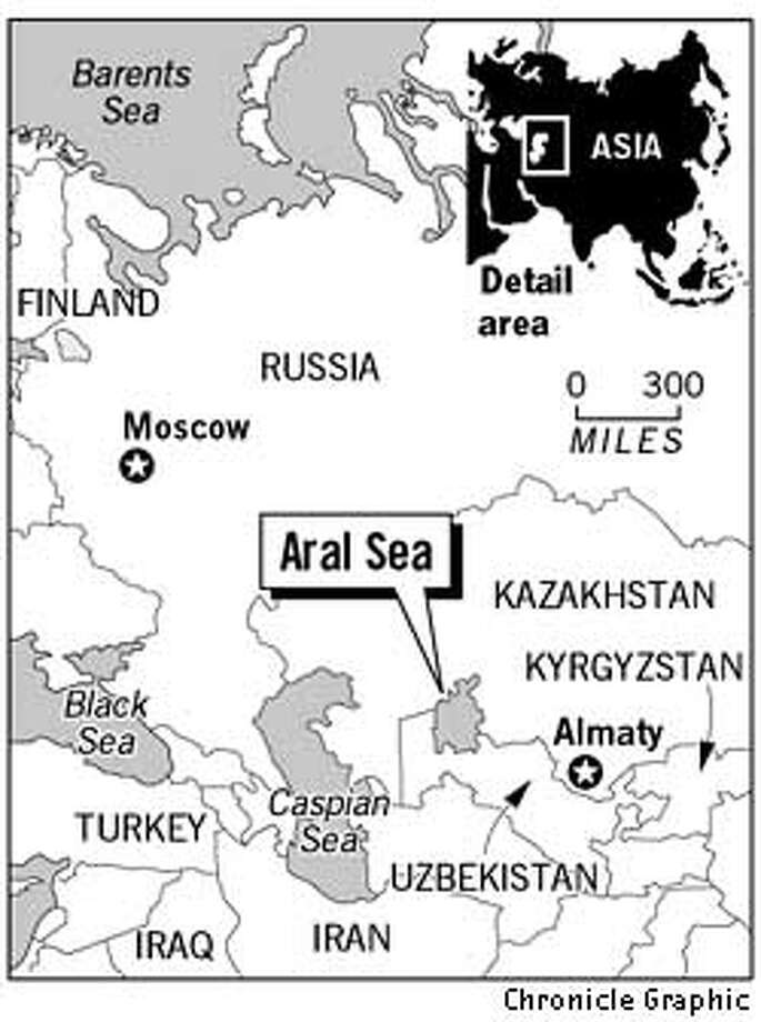 Aral Sea. Chronicle Graphic
